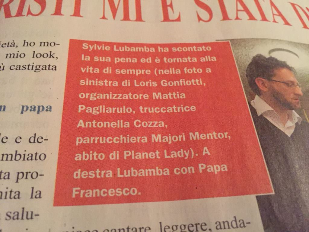Settimanale Miracoli Sylvie Lubamba Loris Gonfiotti Ph.
